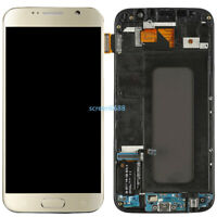Pour Samsung Galaxy S6 G920F Complet LCD écran Verre Tactile+Cadre Gold+Outils