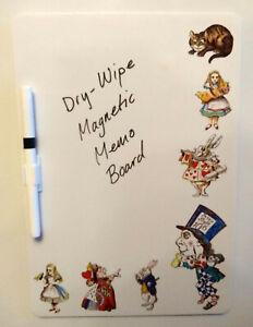 Alice Nel Paese Delle Meraviglie a Secco Lavagnetta Magnetica Perfetto Gift Idea