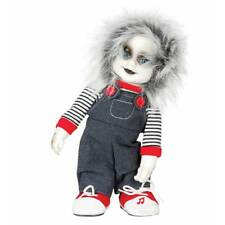 Animated Horror Scary Doll Sound & Movement Chucky Halloween Decoration Prop
