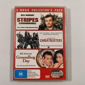 Stripes/Ghostbusters/Groundhog Day (DVD 2006 3 disc set) Bill Murray Region 4