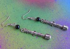 Doctor Who Sonic Screwdriver Charm Drop Earrings Horror 10th Dr Who Cosplay BBC