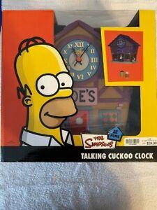 The Simpsons Moe's Tavern Talking Cuckoo Clock NEW Wesco 2005