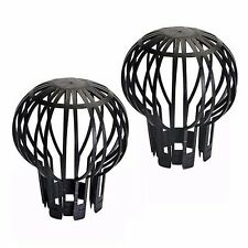 DOWNPIPE FILTER GUARD 2 PACK GUTTER LEAVES PREVENTS DEBRIS DOWN PIPE P46