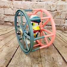 1950's Vintage Donald Duck Blue & Pink Plastic Rolling Ferris Wheel Bells Toy