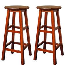 Sgabelli sedie sedia sgabello bar in legno acacia x 2 pezzi
