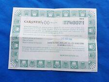 ROLEX Air King 14010 Warranty Certificate Garantie Guarantee 1998