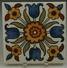 """DERUTA CERAMIC WALL TILE (s) 4.1/4"""" x 4.1/4""""' HAND PAINTED ITALY VINTAGE #7"""