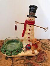 2012 Yankee Candle Snowman Tealight Holder