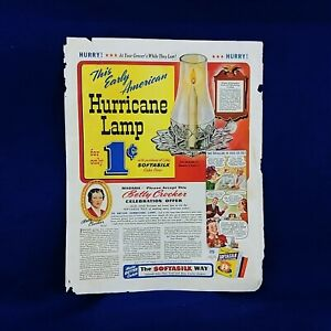 Betty Crocker Hurricane Lamp Ethyl Gasoline Corp Magazine Advertisement Print Ad