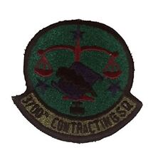 USAF 3700TH CONTRACTING SQUADRON Unit Patch - OD Green/Color - Veteran Owned Bus