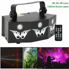 Beam Strobe Effect Stage Lights RGB Laser DJ Disco Dance Party Projector +Remote
