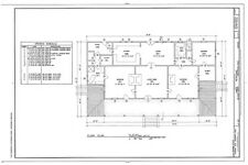 Creole country house, porch, spacious 3 bedrooms, printed architectural plans