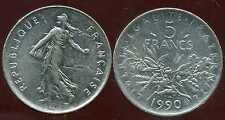5 francs 1990  SEMEUSE  ( bis )