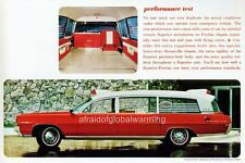 Old Photo.  1964. Red Superior 1964 Pontiac Bonneville Ambulance
