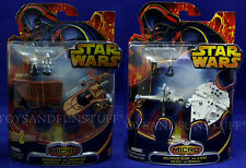 NEW Star Wars MICRO VEHICLES - Millennium Falcon SANDCRAWLER Landspeeder B-WING
