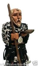 Saint Benedict / San Benito /Mexican Folk Art Wood Sculpture Small