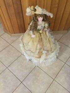 porcelian  doll from home art 31cm high (caroline)