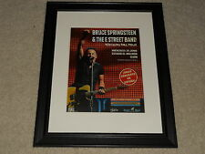 "Framed Bruce Springsteen 2012 Wrecking Ball Spain Tour Mini-Poster, 14"" by 17"""