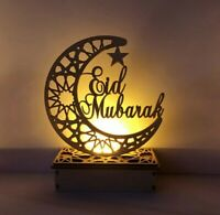Light Lantern Mdf Eid Ramadan MUSLIM Design UK stock crescent moon star