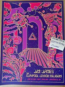 JIM JAMES CLAYPOOL LENNON Jacksonville OR 2019 Screen Print Poster AP Primus MMJ