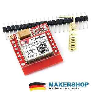 Mini SIM800L GSM GPRS Modul mit Antenne Quad Band Arduino Raspberry Pi