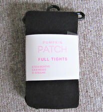Brand New Pumpkin Patch Full Thick Black Tights, Size 0 to 6 Months, BNIP