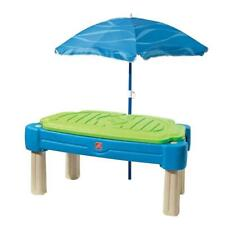 New listing Step2 Sand/Water Table Removable 42 in. Umbrella Plastic Lid Rectangle Shape