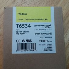 09-2013 New Genuine Epson T6534 200ml Yellow Ultrachrome HDR Ink 4900