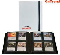 ULTRA PRO BINDER ALBUM 4 POCKET 20 PAGES HOLDS 160 CARDS MTG Pokemon WHITE