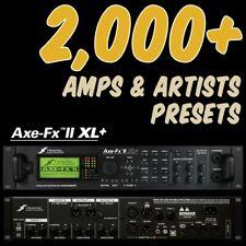 ✪ Fractal AXE-FX II XL+ Presets Platinum Collection 2,000+ tones & 400 Bonus Cab