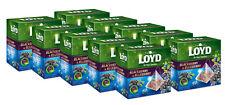 10 x LOYD Blackberry & Blueberry Flavor Fruit Tea Boxed 20 Pyramid Bags