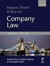 Mayson, French & Ryan on Company Law by Ryan, Christopher Book The Cheap Fast