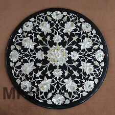 Marble Coffee Table Top inlay with Semiprecious Stone Handmade Art Home Vintage