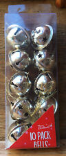 Pack Of Silver Tone Metal Bells/Crafts/Christmas Decorations/Star Design/Hanging