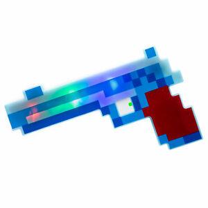 LED Flashing Diamond Pixel Gun with Battle Sounds