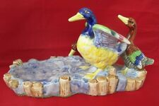 Marumon Ware Ducks on Pond Dish Figurine Vintage pre-WWII
