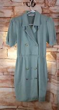 Vintage St. John by Marie Gray Size 6 Sea Foam Green Santana Knit Dress W/Belt