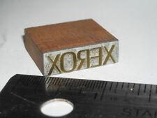 Vintage 1960's? XEROX LOGO Letterpress Printers Block Metal Engraved Stamp