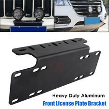 Offroad Front Bumper License Plate Mount LED Light Bar Bracket Holder Universal