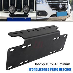 Offroad Front Bumper License Plate Mount LED Light Bar Bracket Holder Universal