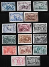 WCstamps: U.S. Scott #230P4-245P4 / $2,110 - Columbian Plate Proof Set, VF