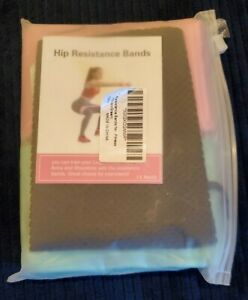 Resistance Bands Fabric Fitness Bands Yoga Hip Booty Butt Exercise Loop Set