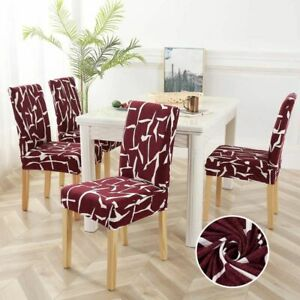 1-6pcs  Geometric  Chair  Covers Spandex Elastic Stretch Decoration Chair Dining