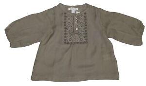 Marie Chantal Beige 100% Wool Lightweight Top NWT SP £68