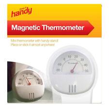 Termómetro magnético con Soporte Refrigerador Temperatura Ambiente Nuevo Mini calibre dial Cobertizo