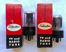 2X Silvertone 6SN7GTB Twin Triode Vacuum Tube Tested
