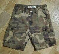American Eagle Classic Camo Cargo Shorts Distressed Heavy Cotton Size 30