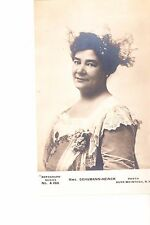 Mme. Schumann Heinck  Real Photo  @ 1906