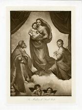 """""""RAPHAËL : Madone de Saint Sixte"""" Phototypie originale BRAUN CLEMENT & Cie 1890"""