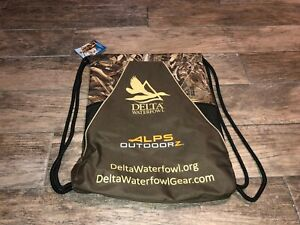 New Alps Outdoorz Delta Waterfowl Drawstring Bag Back Pack Camo Brown